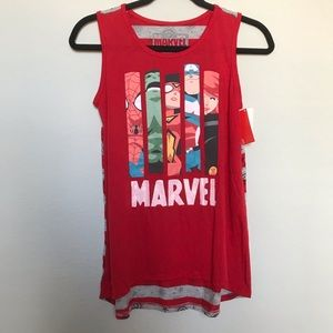 Marvel Juniors Tank Top Red Blue Grey